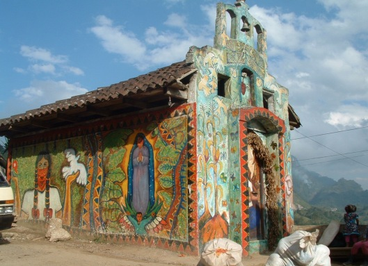 "Photo by David Sasaki via Flickr, ""Zapatista Church, January 30, 2004"", CC-BY-NC"