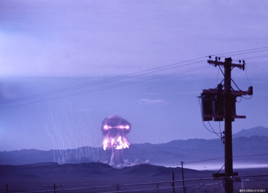 Los Alamos National [Nuclear] Laboratory, UPSHOT KNOTHOLE Grable Color photo