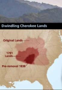 shrinking Cherokee lands