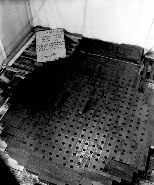 The world's first nuclear reactor during assembly in the squash court under the West Stands of Stagg Field Chicago Pile