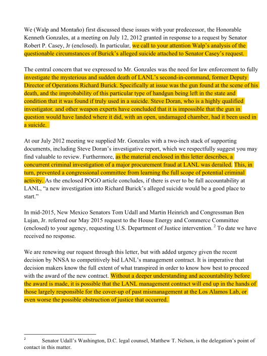 Feb. 2 Letter to US Atty re LANL suicide corruption, p. 2