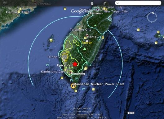 Taiwan 6.4 M 2016-02-05 19:57:27 (UTC) shake radius