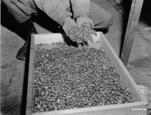 Gold rings of Nazi victims