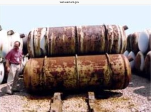Rusty DU canisters ANL Gov