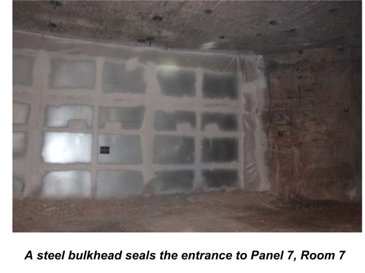 Steel Bulkhead closure WIPP