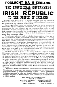 April 24 2016 Proclamation of the Irish Republic Provisional Government