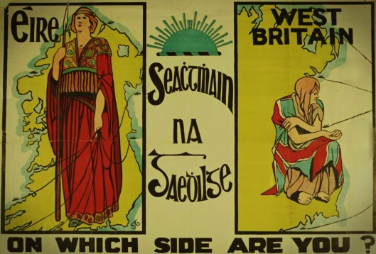1913 Poster for Gaelic League by Frances Georgiana Chenevix Trench (aka Sadhbh Trinseach, 1891–1918)