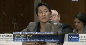 Christina Back General Atomics c-span 21 april 2016 nuclear deregulation
