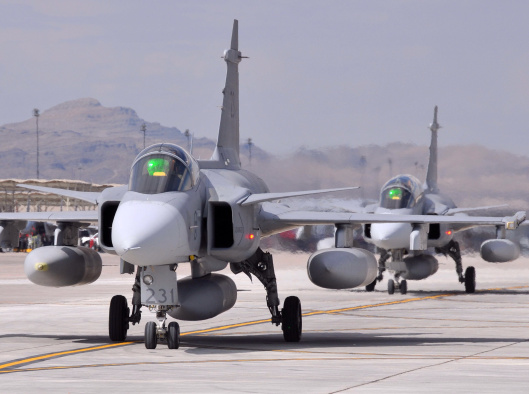 Swedish air force JAS 39 Gripen fighters