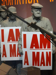 Memphis Sanitation Workers Strike Diorama at the National Civil Rights Museum, by Adam Jones, Ph.D., CC- By- SA - 3.0 via Wikimedia