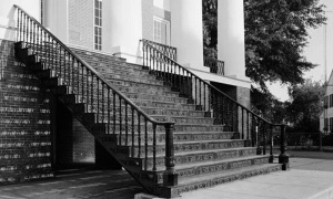 Staircase from the Windsor Plantation Ruins, now located at Alcorn State University