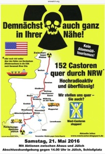 May 22 2016 Anti-Castor transport protest NRW Germany