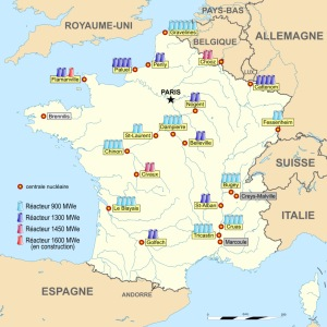 France Nuclear Power Station map by Sting-Roulex45-Domaina, CC-BY-SA via Wikipedia
