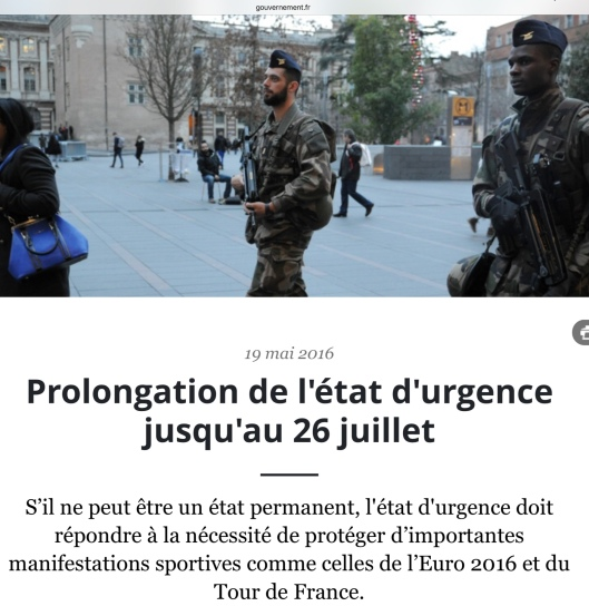 French State of Emergency to 26 July