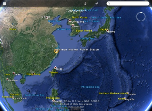 Sanmen Nuclear Power Station China map
