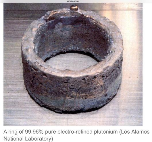 Pu metal ring LANL