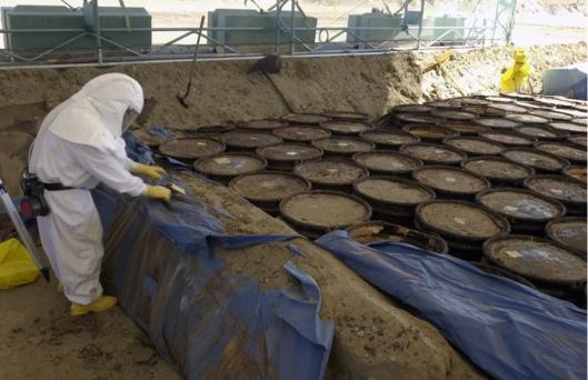 Hanford buried Tranuranic waste