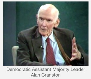 Democratic Assistant Majority Leader Alan Cranston