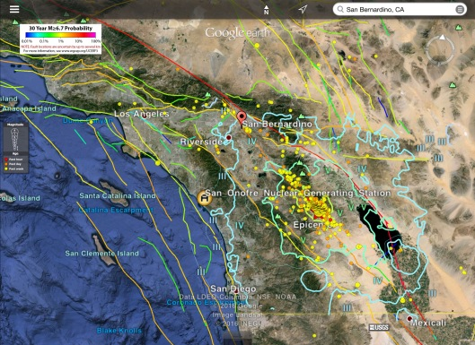 San Onofre Nuclear eathquakes; earthquake hazard; 5.2 quake June 10, 2016