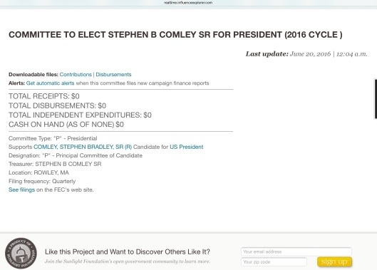 realtime.influenceexplorer.com Stephen Comley for President