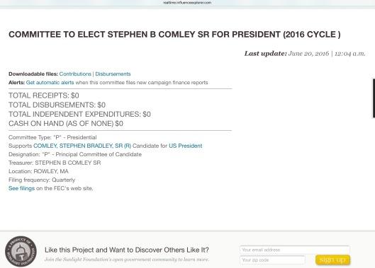 realtime.influenceexplorer.com Stephen Comley for President