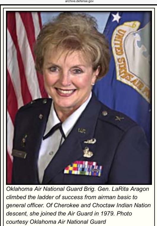 Choctaw Cherokee General LaRita Aragon