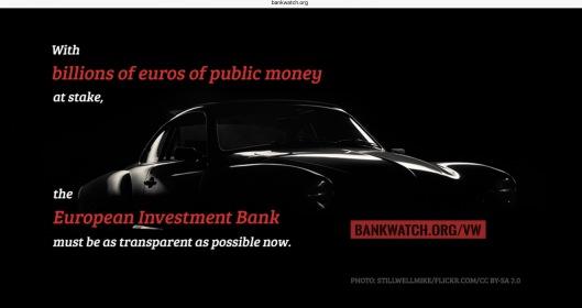 Bankwatch Billions at Stake VW
