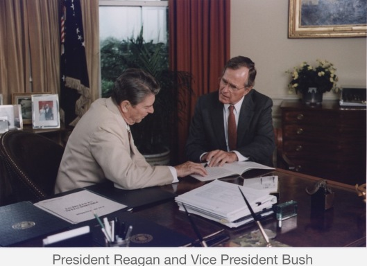 Reagan and Bush
