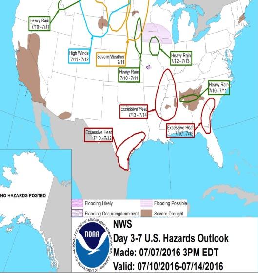 NOAA Hazards July 10 to 14
