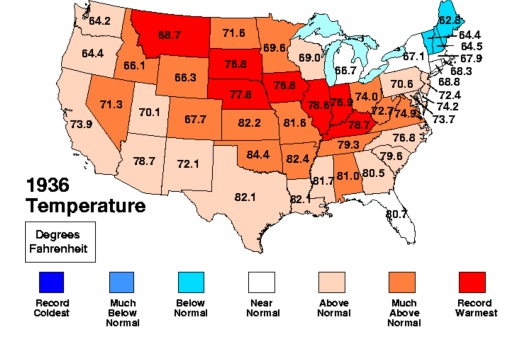 1936 heatwave temps USGov map