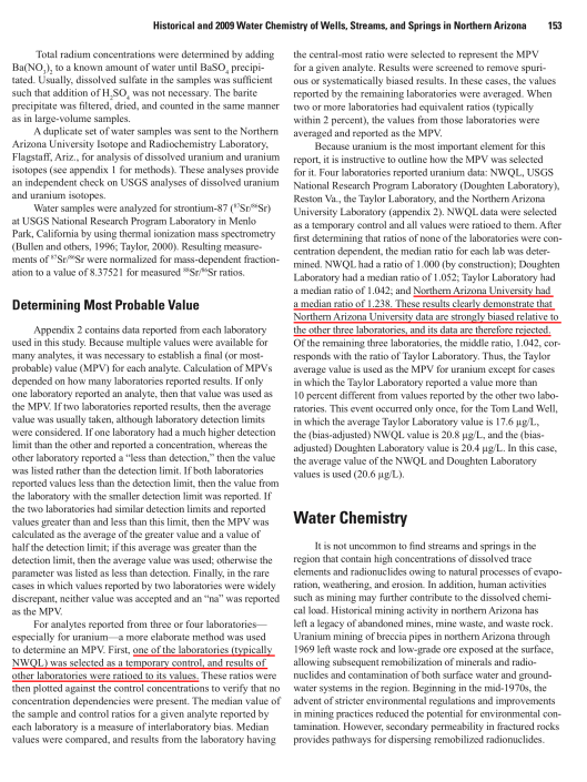 Hydrological, Geological, and Biological Site Characterization of Breccia Pipe Uranium Deposits in Northern Arizona, p. 153