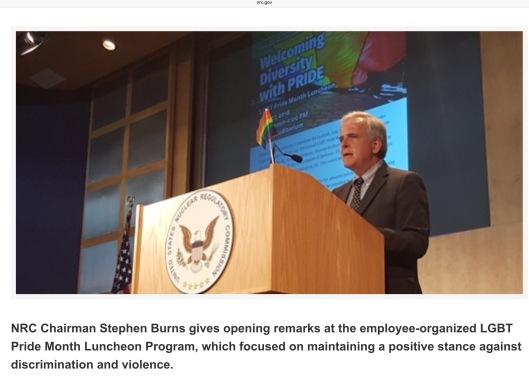 US NRC Chairman Burns LGBT Luncheon
