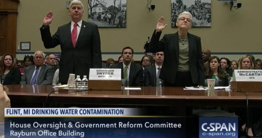 Gina McCarthy and Gov Snyder Flint Hearings C-span