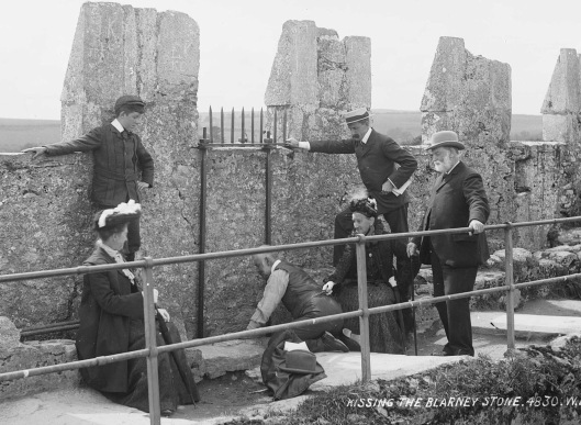 Blarney Stone historic picture Via Wikipedia