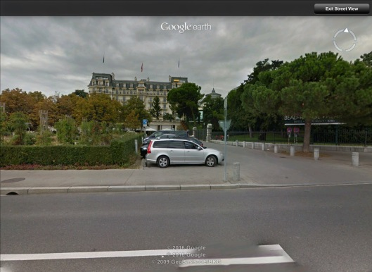 Beau Rivage Palace Hotel Lausanne Streetview