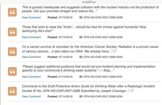 July 14-16 EPA radiation in water comment