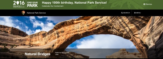 Natural Bridges NPS 100 yrs