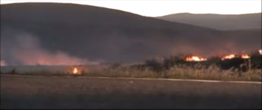 Hanford Fire 2007 DOE vid screenshot day