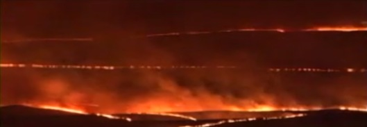 Hanford Fire 2007 DOE vid screenshot night
