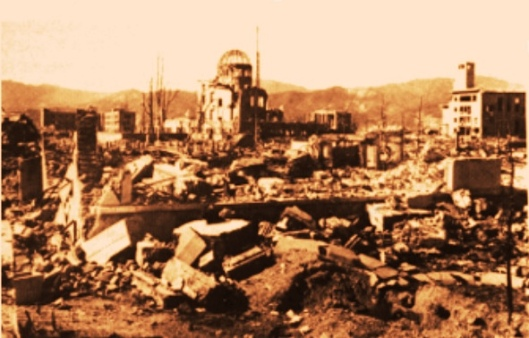 Hiroshima rubble peace dome