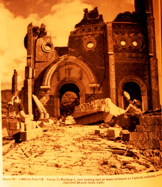 Urakami Cathedral after the A Bomb dropped