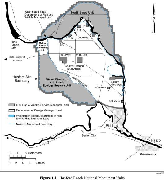 Hanford Site Map PNNL for DOE