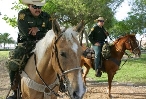 US Border Patrol On Horseback