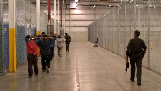 US border control detains illegal immigrant