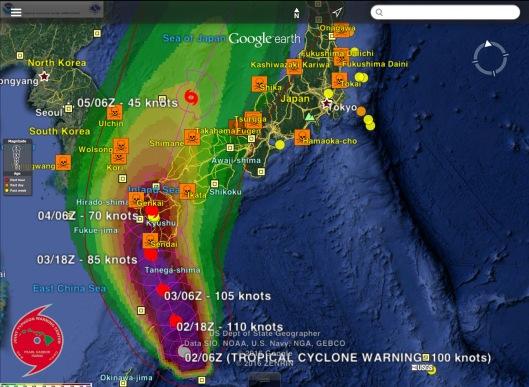 Typhoon Namtheun 02/06  Z  Earthquakes 2 Sept. 2016