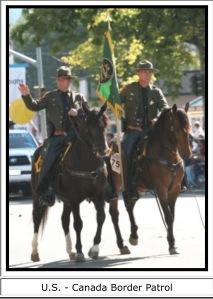 Mustang Canada border guard 1