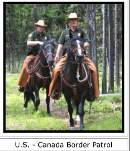 Mustang Canada border guard 2