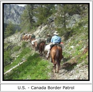 Mustang Canada border guard 3