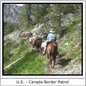 Mustang Canada border guard 3