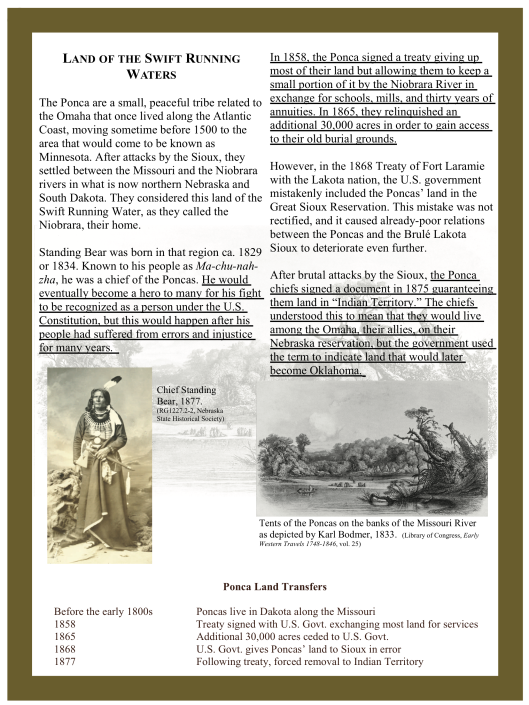 P. 2 Chief Standing Bear A Person Under the Law, US 8th Circuit